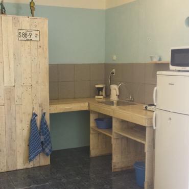 home made pallet wood kitchen
