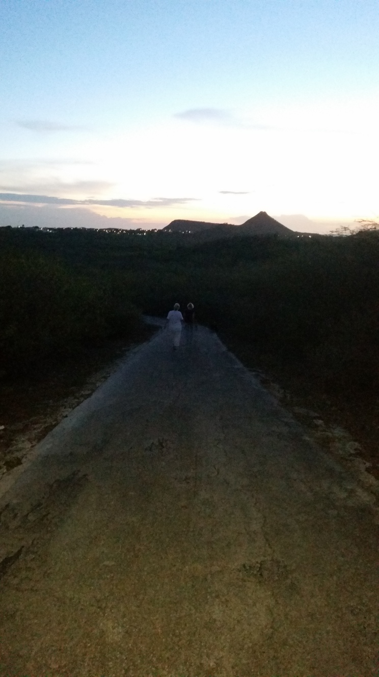 walking downhill