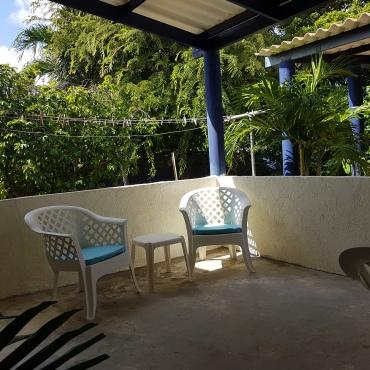 newly built back terrace